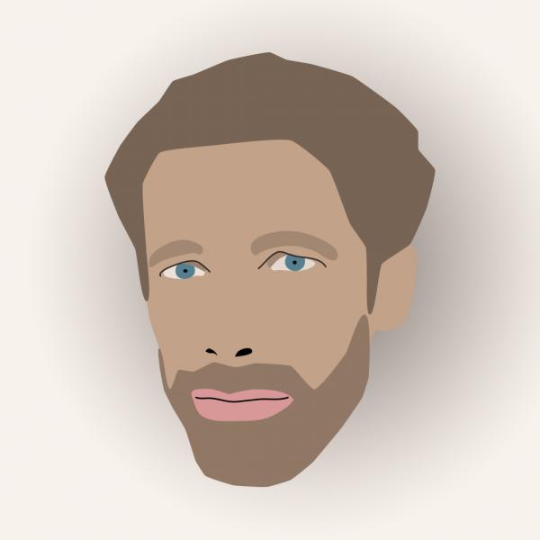 flat design portret