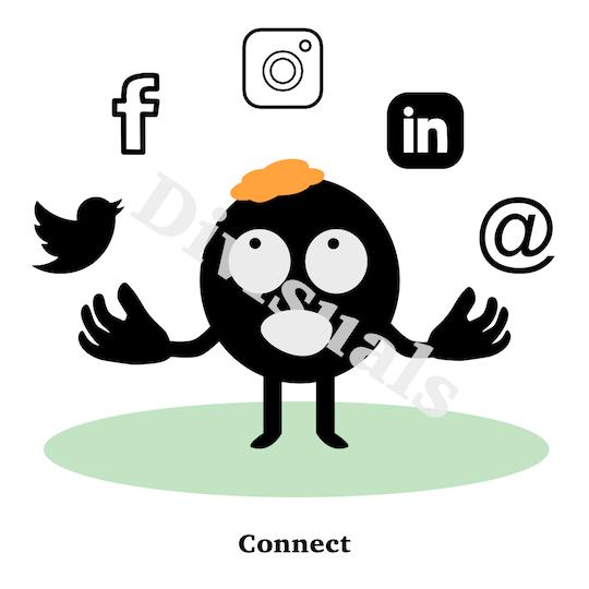 iconen voor social media