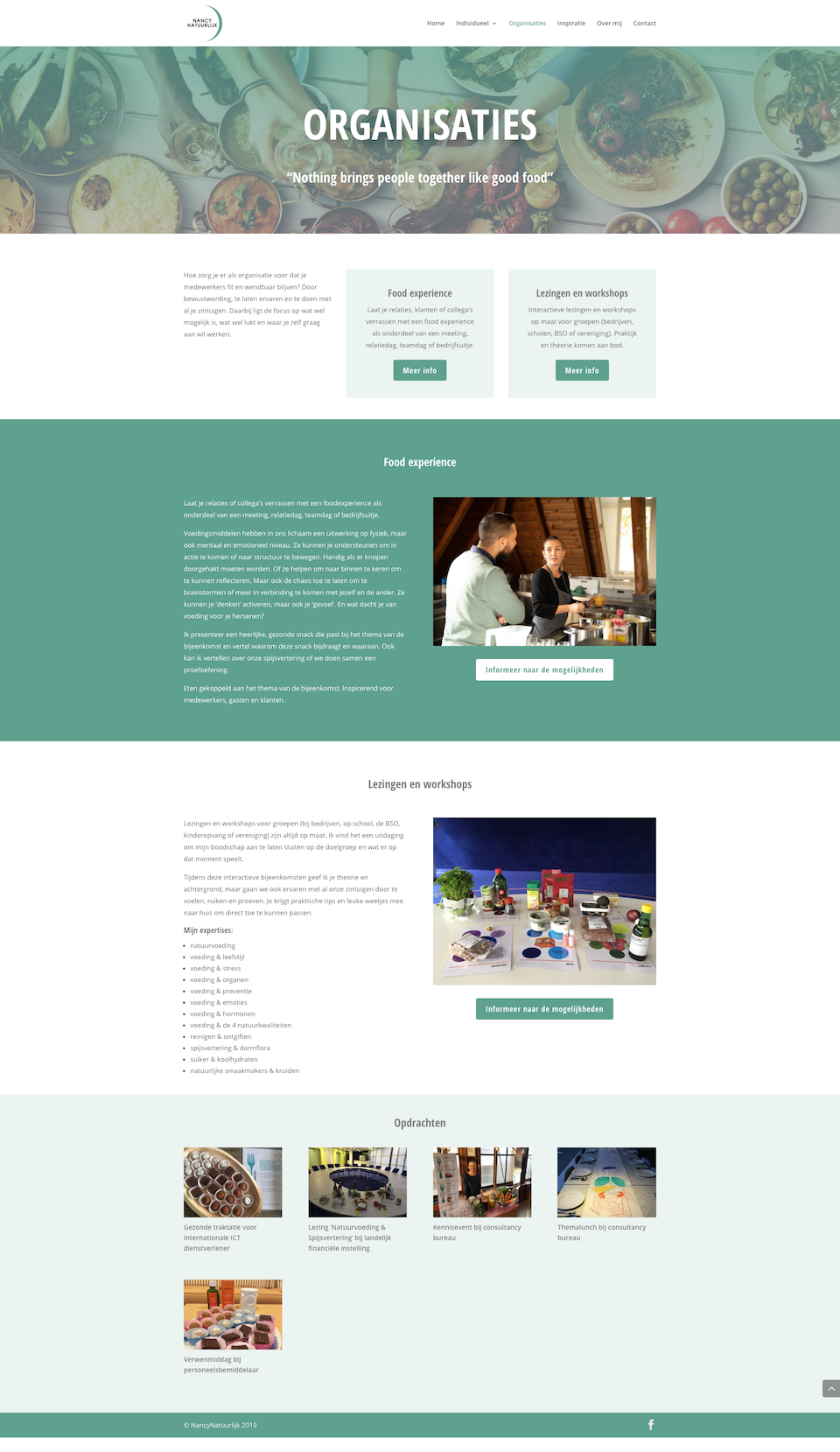 divi website voor coach