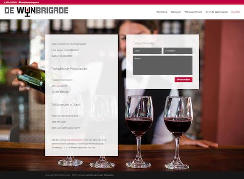 contactpagina voor een website