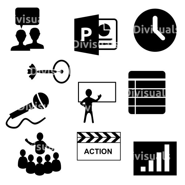 iconen set presenteren