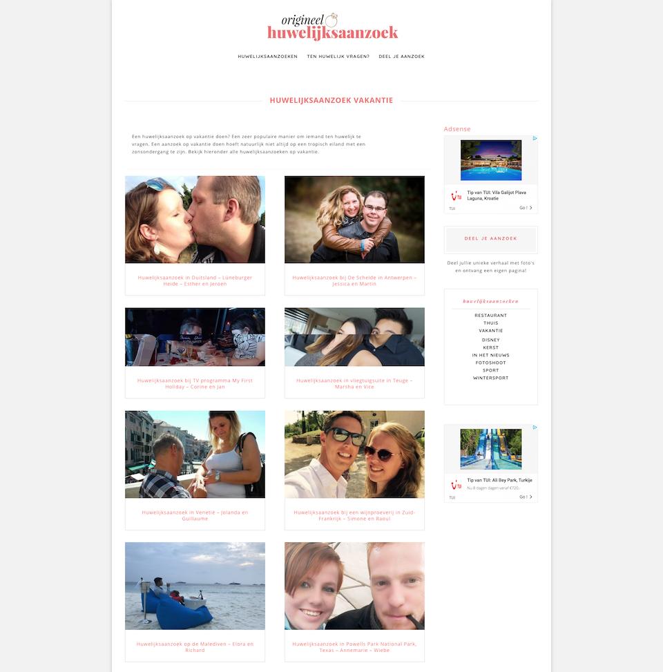 website voor een platform
