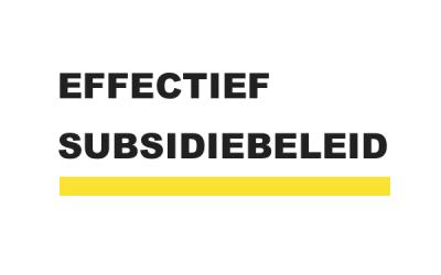 Effectief subsidiebeleid